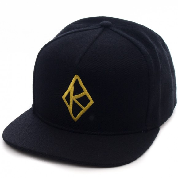 98f6f7b9ec9 Krooked DIAMOND K SNAPBACK BLACK