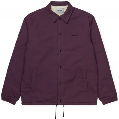 CANVAS COACH JACKET BOYSENBERRY/BLACK