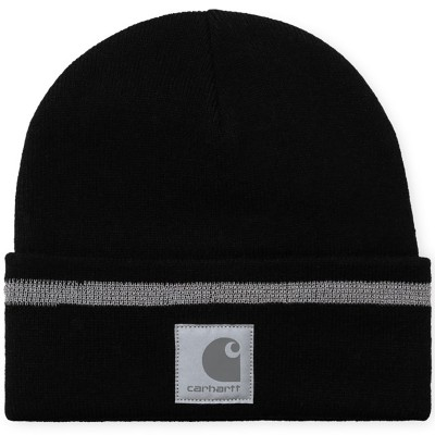 FLECT BEANIE BLACK/REFLECTIVE GREY