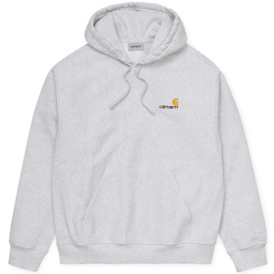 HOODED AMERICAN SCRIPT SWEAT ASH HEATHER