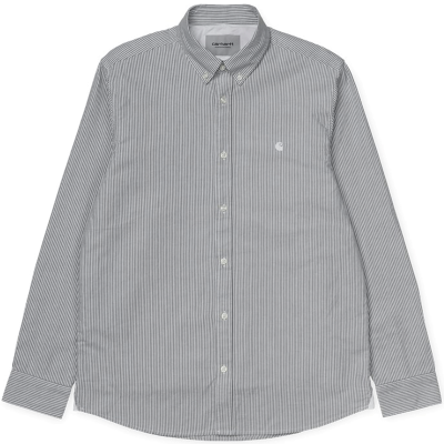 L/S DUFFIELD SHIRT CHROME GREEN/WHITE