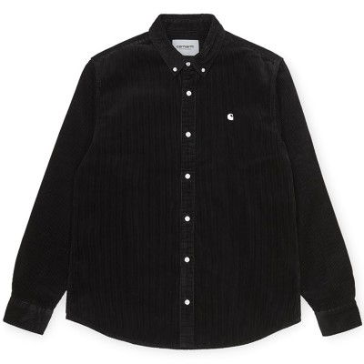 L/S MADISON CORD SHIRT BLACK/WAX