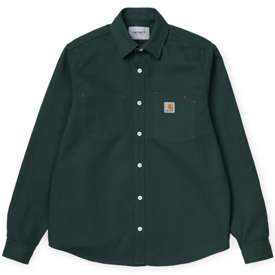 L/S TONY SHIRT DARK TEAL RIGID