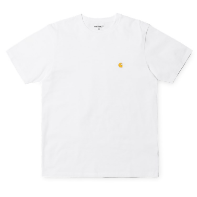 S/S CHASE T-SHIRT WHITE/GOLD