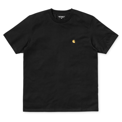S/S CHASE T-SHIRT BLACK/GOLD