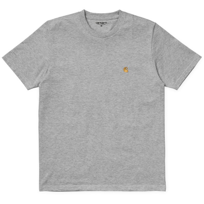 S/S CHASE T-SHIRT GREY HEATHER/GOLD