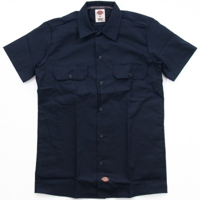 SHORT SLEEVE SLIM WORK SHIRT DARK NAVY