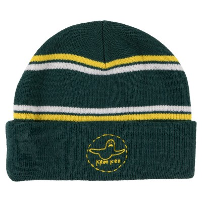 TRINITY CUFF BEANIE GREEN/YELLOW/WHITE