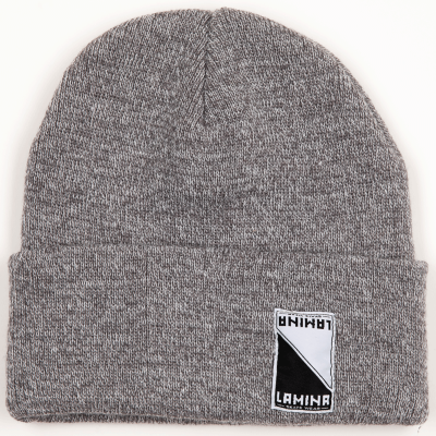 LAMINA DOUBLE-FOLD BEANIE GREY