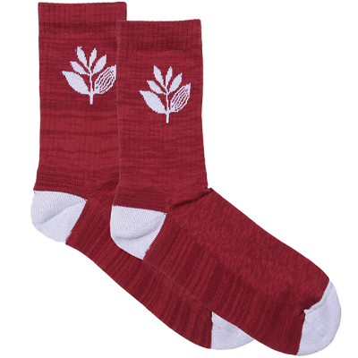 PLANT SOCKS BURGUNDY