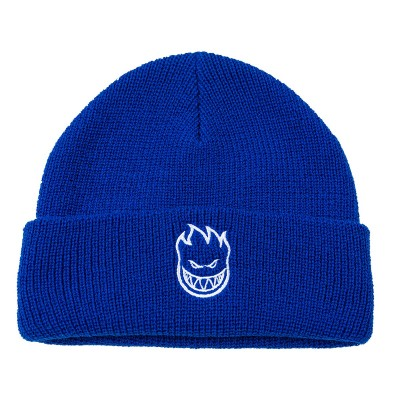 BEANIE BIG HEAD CUFF BLUE/WHITE