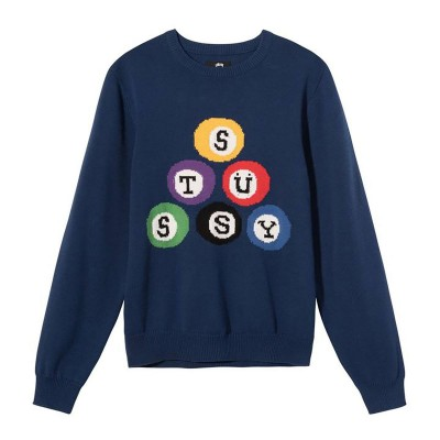 STUSSY BILLARD SWEATER NAVY