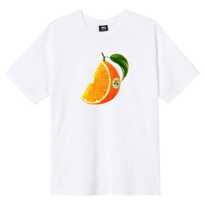 ORANGE SLICE TEE WHITE