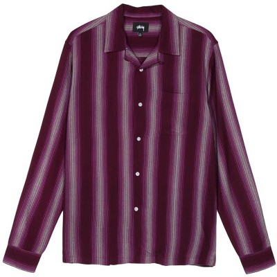 SHADOW STRIPED SHIRT BERRY