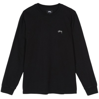 STOCK LOGO LS CREW BLACK