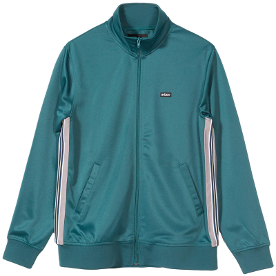 TEXTURED RIB TRACK JACKET DARK TEAL