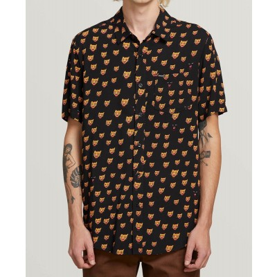 OZZIE CAT S/S SHIRT BLACK