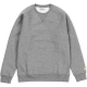 CHASE SWEAT DARK GREY HEATHER/GOLD