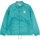 SPORTS COACH JACKET SOFT TEAL/WHITE