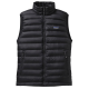 MEN'S DOWN SWEATER VEST BLACK