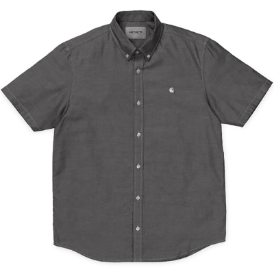 S/S LANCASTER LOGO SHIRT BLACK/WAX