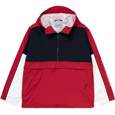 TERRACE PULLOVER DARK NAVY/CARDINAL/WHIT