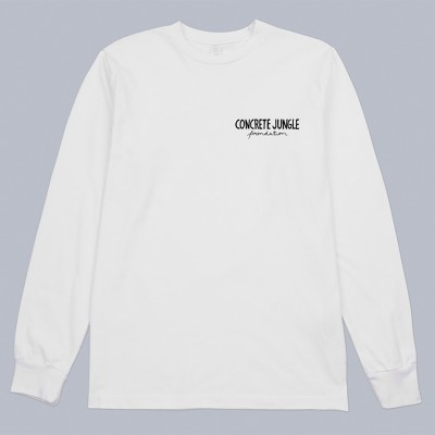 JUNGLE GARDEN L/S WHITE