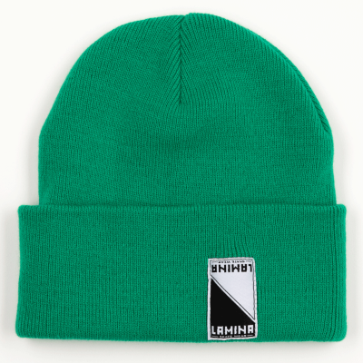 LAMINA DOUBLE-FOLD BEANIE KELLY GREEN