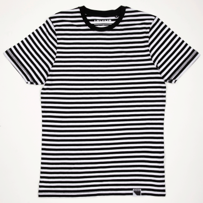 STRIPES TEE BLACK/WHITE