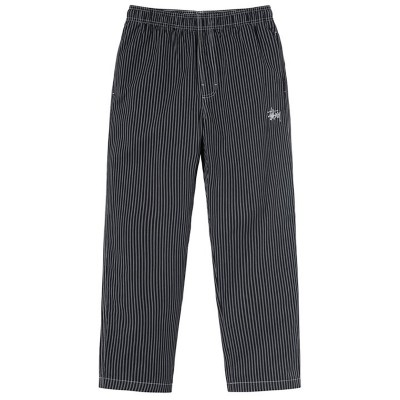 BRUSHED COTTON RELAXED PANT STRIPE