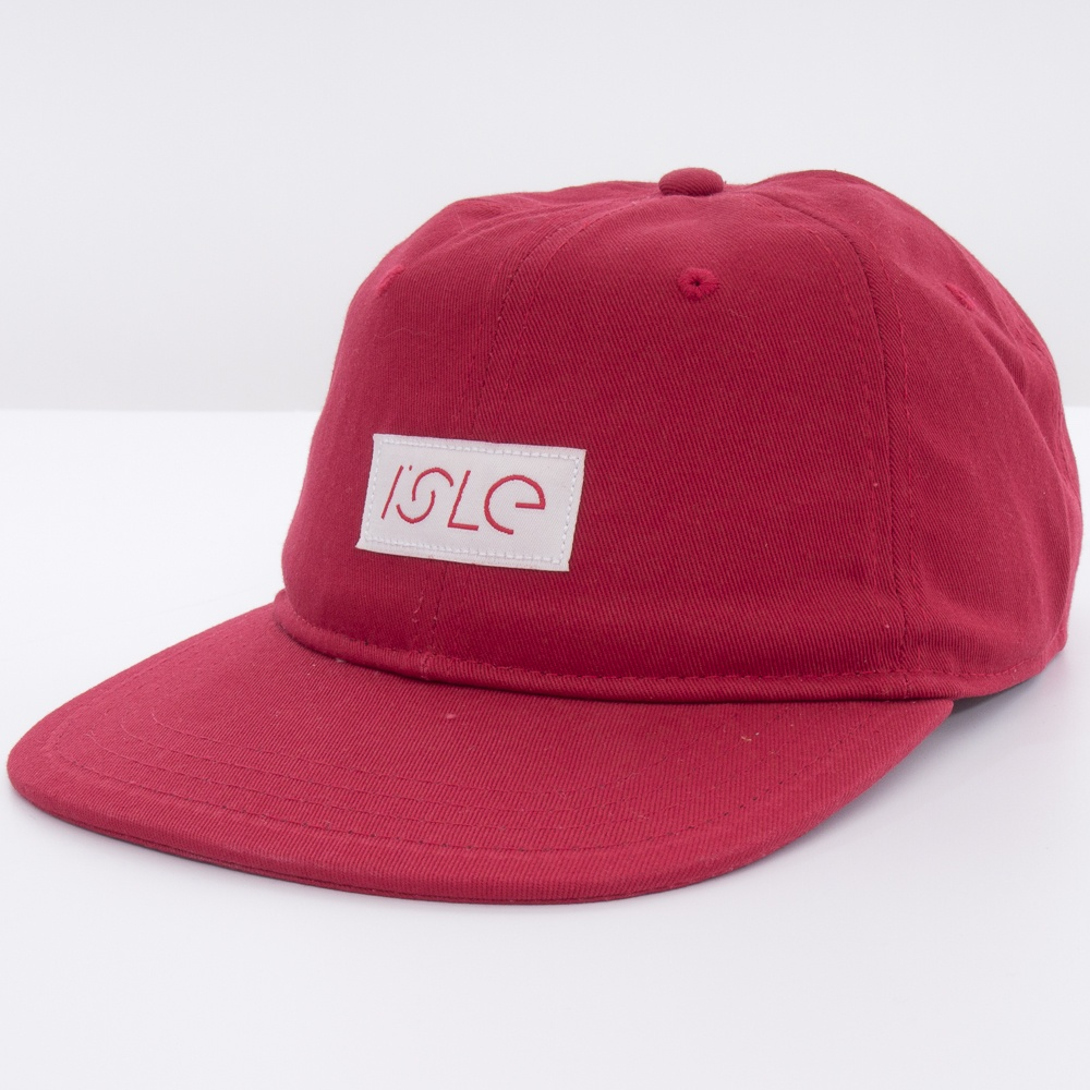 isle-6-panel-logo-snapback-red-0115